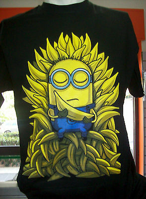 Tshirt minions game of thrones,minons trono di spade,trono di banane
