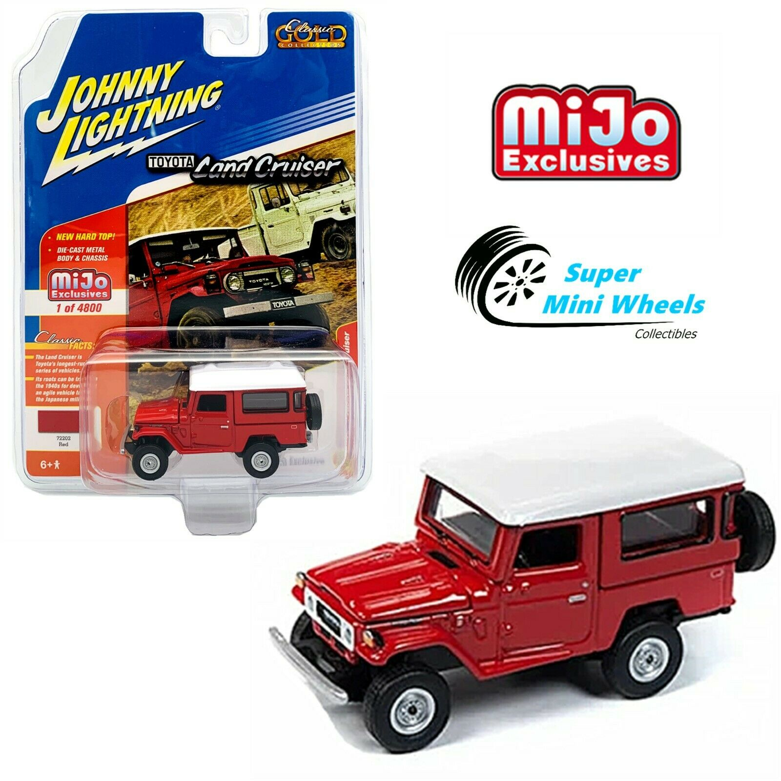 Johnny Lightning 1:64 Toyota FJ40 Land Cruiser Department of Forestry Green Mijo
