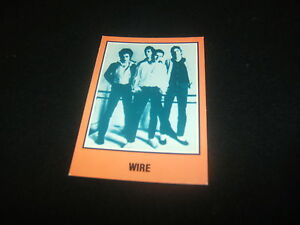 WIRE-1979-ORIGINAL-amp-OFFICIAL-WARNER-BROS-RECORDS-TRADING-CARD-USA