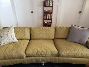 Admirable Details About Vintage Sofa Couch And Chair Chartreuse Green Yellow Set With Claw Feet Lamtechconsult Wood Chair Design Ideas Lamtechconsultcom
