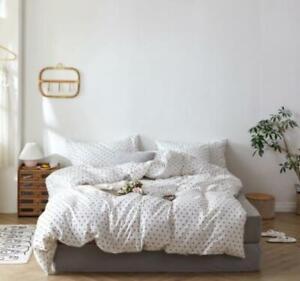3D White Dots ZHUA2554 Bed Pillowcases Quilt Duvet Cover Set Queen King Zoe