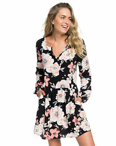 NEW-ROXY-Womens-Sunkissed-Daze-Printed-Smock-Dress-Womens-Summerwear