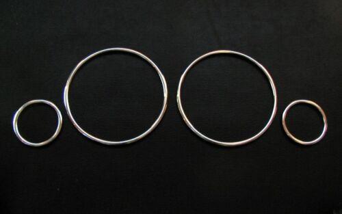 ALU compteur de vitesse anneaux Compteur de vitesse anneaux jeu pour AUDI 80 90 b3 b4 s2 Klipsen sans collage