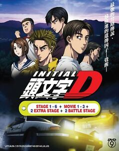 DVD-Anime-INITIAL-D-Stage-1-6-Movie-1-3-2-Extra-Stage-2-Battle-English-Sub