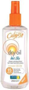 CALYPSO-DRY-OIL-WET-SKIN-SPF-15-MEDIUM-200ml-NEW-FOR-WET-amp-DRY-SKIN-SUN