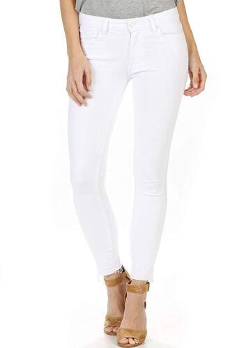 Sz28 Paige Skinny Midrise White Crop Crisp Avec Ourlet Nwt Stretch Décolleté Verdugo 5ZO8ww