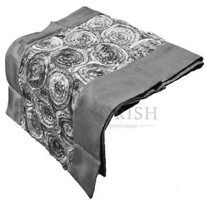 Image Is Loading Contemporary Silk Decorative King Queen Bed Scarf Table