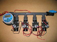 """Hunter Node-400 4 Station with 4 x 1"""" PGV Solenoid Valves and Manifold"""