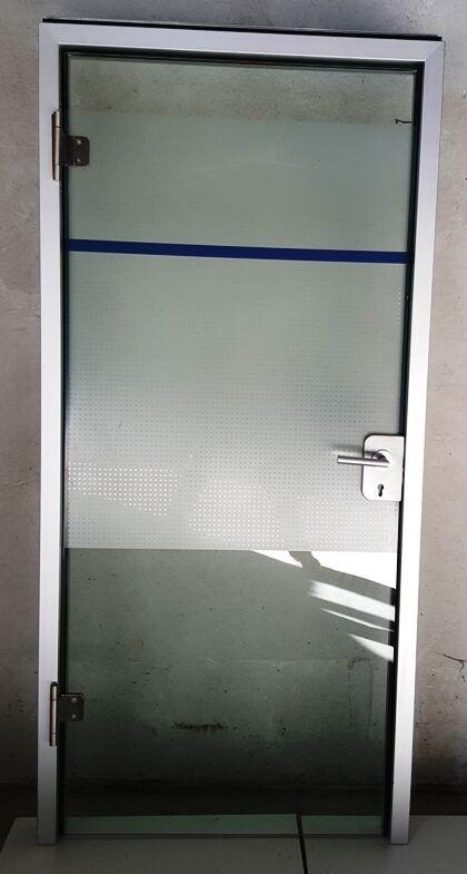 Glastür Tür Innentürn Türen Wohnungstür Zimmertüren Inkl. Alurahmen DIN Rechts