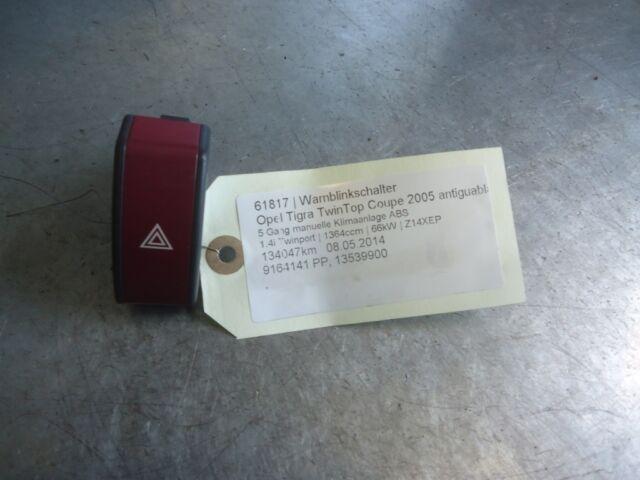 interruptor de peligro Opel Tigra TwinTop 9164141 PP 1.4i Twinport 66kW Z14XEP 6