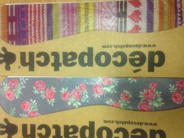 Decopatch paper sheets 3 per pack 30cm x 40cm decoupage sweets zig zags