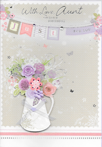 Image Is Loading ISABELS GARDEN AUNT BIRTHDAY CARD 3D HANDMADE TOP