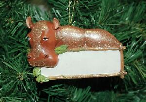 Hippo Christmas Ornament.Details About Zooville Hippo Hippopotamus Christmas Ornament