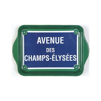 """Tray - """"Avenue Des Champs-Elysees"""" - Tin 8 1/4"""" x 5 1/2"""" - French,Fun,Functional"""