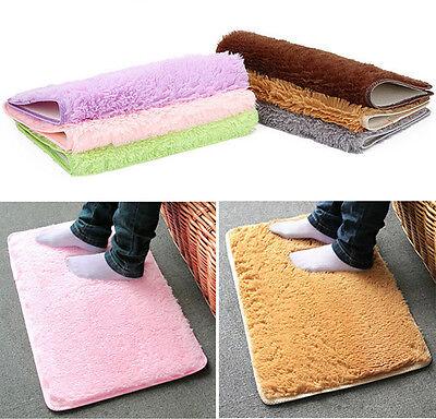 Non-slip Plush Velvet Slip Mats And Dust Doormat Absorbent Bathroom Floor Rug