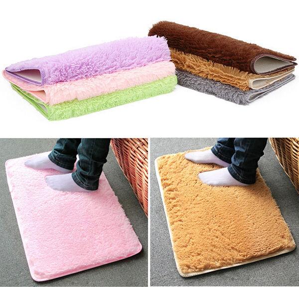 Hot Fad Velvet Slip Mats Dust Doormat Bathroom Floor Rug more safe and secure WF