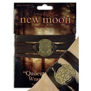 TWILIGHT-New-Moon-Quileute-Tribe-Tattoo-Leather-Wrap-Bracelet-Replica-NEW