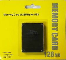 128MB Megabyte Memory Card Data For Sony PlayStation 2 PS2 Slim Game Console