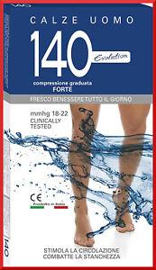 Calze-a-COMPRESSIONE-GRADUATA-FORTE-lunghe-per-uomo-140-denari-den-in-cotone