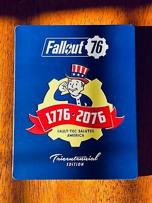 no Game Reasonable Fallout 76 Steelbook Collector's Edition Tricentenial Steel Book Case Video Games & Consoles