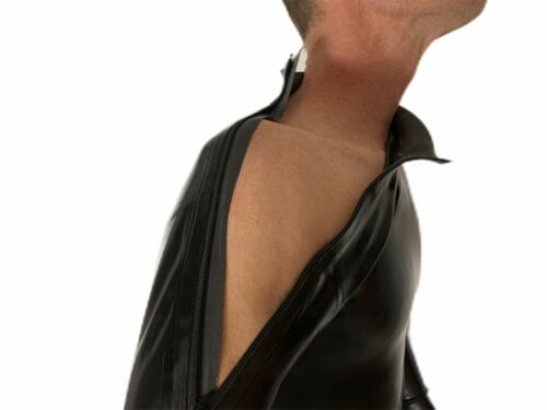 Catsuit Latex shoulder Zipper with Crotch Zipper Army Green 0.4 Mil 100/% Latex