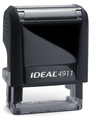 NON MACHINABLE stamp text on IDEAL 4911 Self-inking Rubber Stamp with RED INK