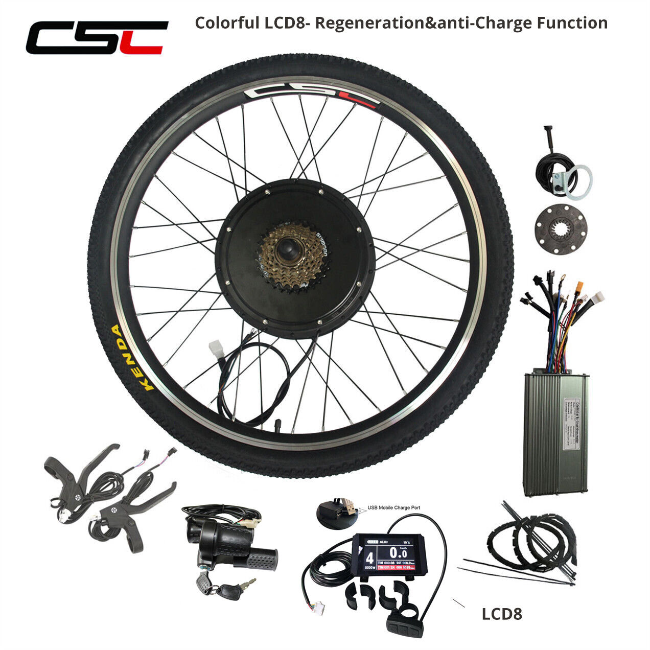 48V 1500W Electric Bike Conversion Kit  20   24  26  700C Cycling Motor blueetooth  unique shape