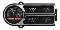 Dakota Digital 48 49 50 Ford Pickup Truck Gauge System Black Red Vhx-48f-pu-k-r