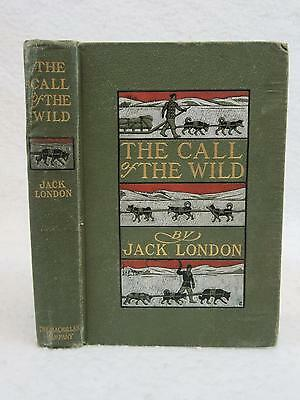 Jack London THE CALL OF THE WILD Goodwin & Bull 1903 MacMillan 2nd Printing