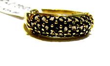10K Yellow Gold Smoky Topaz Round Band Ring, Size 6, 1.00(TCW), 2.3 Grams - New