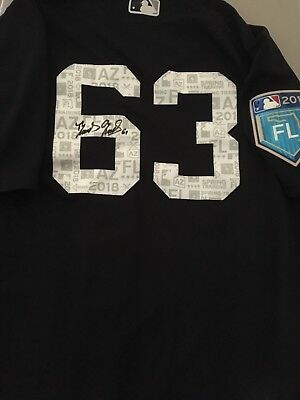 the best attitude f2979 f1a9a Domingo German Signed 2018 Game Used New York Yankees Spring Training  Jersey!   eBay