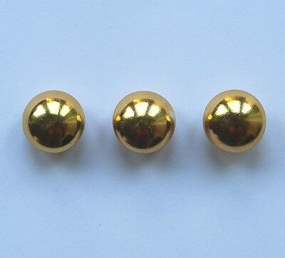 10 x Gold Domed Metal Shank Sewing, Needlework Buttons 16mm Wide