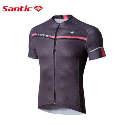 Santic Men Cycling Short Jersey Sleeve Cuff Road Bike MTB Short Sleeve Quick Dry