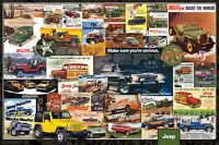 Classic Jeep History Jeeps 1941-1981 Advertising Collage Wall Poster