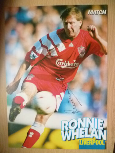 100% Genuine Hand Signed Press Cutting of Liverpool FC Player RONNIE WHELAN