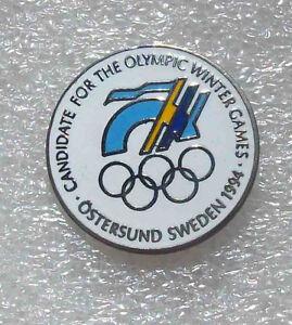 Olympic pin BID OSTERSUND SWEDEN 1994 enamel rare