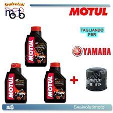 TAGLIANDO FILTRO OLIO + 3LT MOTUL 7100 MA2 10W40 YAMAHA YZF-R6 2009