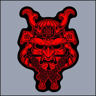 Samurai Mask Sticker vinyl decal JDM japan car bike jdm tuning bumper anime art