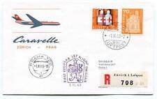 FFC 1963 Caravelle Swissair First Regular Jet Flight Zurich Prag 120 REGISTERED
