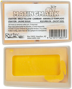MATINGMARK RAM MILD CRAYONS Use w/Ram/Buck Harnesses When Temp is 65-85 Yellow