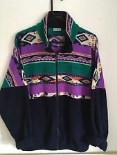 Vintage Sergio Tacchini Fleece Jacket Jumper L XL Aztec Ski Sports Festival 80s