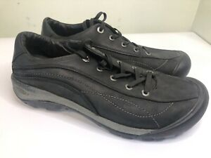 Keen-Toyah-Women-Black-Athletic-Hiking-Leather-Shoes-Size-9-Lace