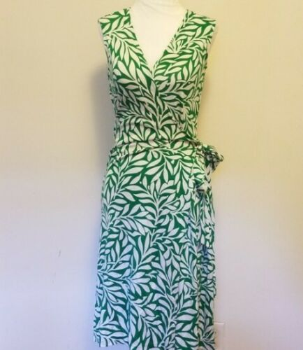 Diane von Furstenberg Green Silk Wrap Dress