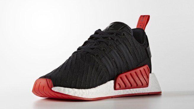 Adidas 12.5 NMD R2 PK size 12.5 Adidas Black Core Red. BA7252. primeknit. ultra boost bred d60102