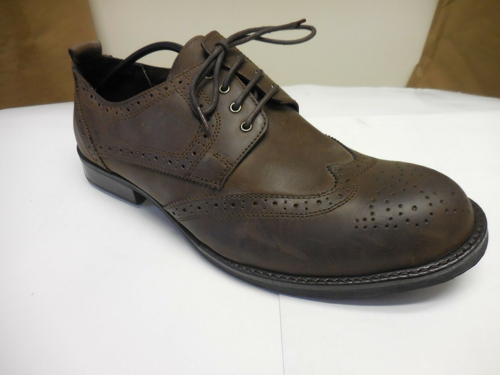 Stacy Adams Badge Brown Lace-Up Dress shoes 046 Sizes  Multiple