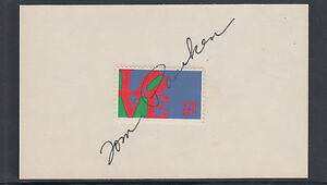 Tom-Pauken-Director-ACTION-signed-3x5-card-with-8c-Love-stamp