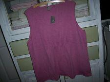NWT$109 J.Jill JJill  PO Sleeveless Tunic Sweater 100% Cashmere Soft Plum 2X