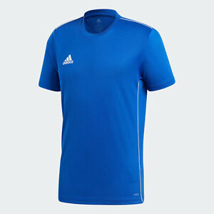 ???? adidas Men's Soccer Core 18 Training Jersey Blue Small NWT FAST ...