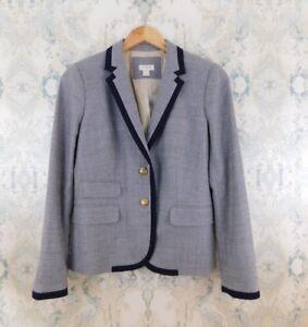 J-Crew-Gray-Tipped-Keating-Boy-Wool-Blend-Career-Casual-Blazer-Jacket-4