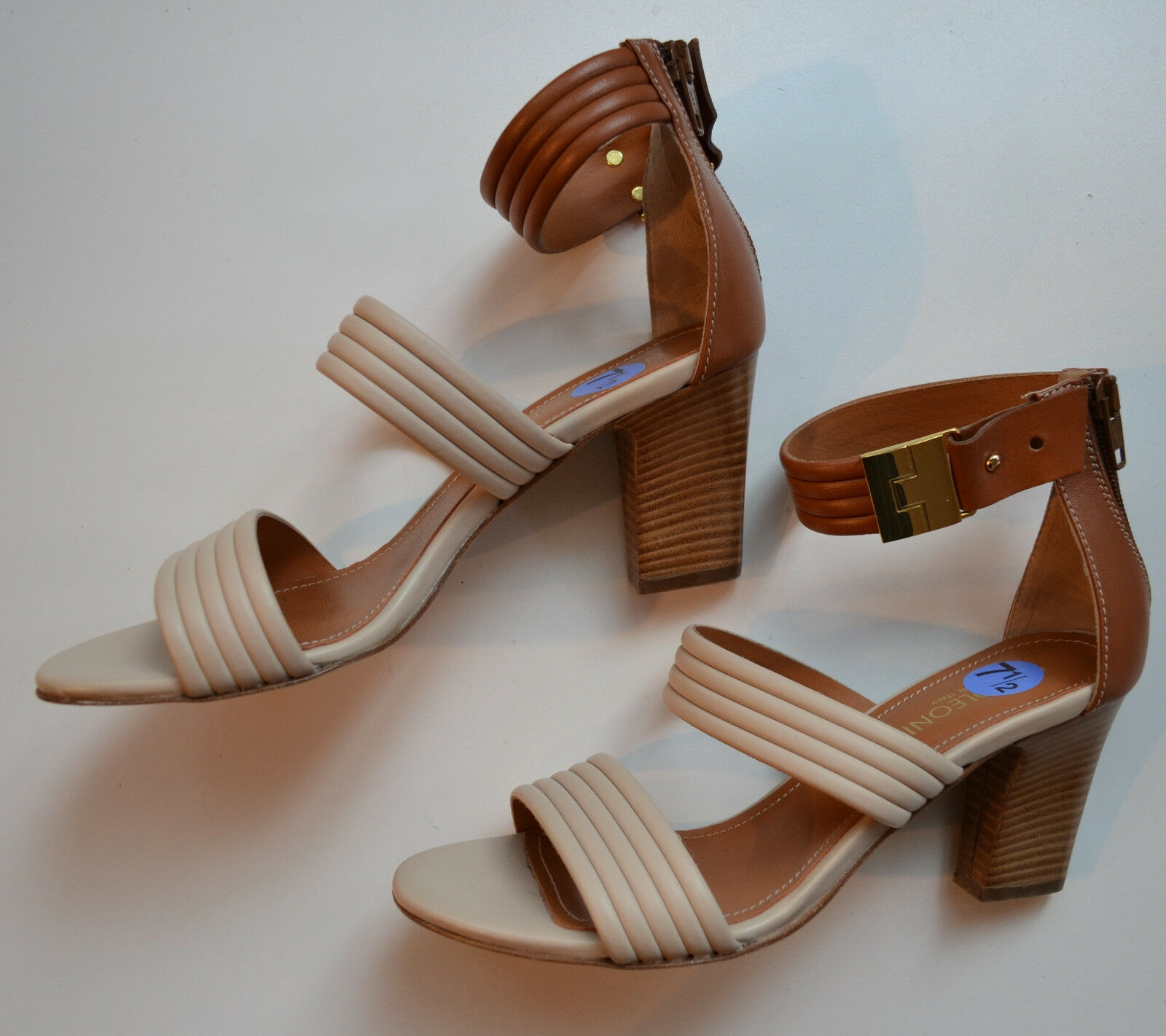 NEW NAPOLEONI  Leather Strap Sandals Size 38(EU) 7.5(US)
